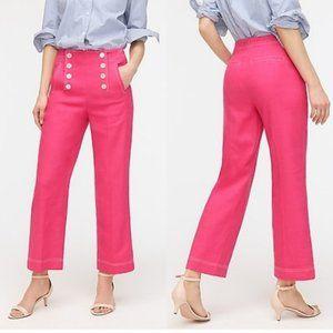 🎉 Host Pick J.Crew Pink Sailor Pant Stretch Linen